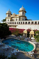 Shiv Niwas Hotel within City Palace Gates. Udaipur. Rajasthan. India