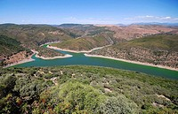 View from Monfragüe castle. Extremadura. Spain