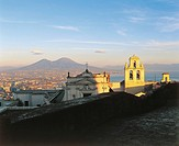 Italy - Campania Region - Naples - View with Charterhouse of St. Martin