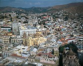 High angle view of a city, Guanajuato, Mexico