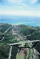 Italy - Liguria Region - Surroundings of Arenzano - Motorway