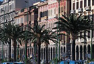Italy - Sardinia Region - Cagliari - Buildings along Via Roma
