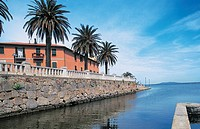 Italy - Tuscany Region - Orbetello - Port and polygonal walls