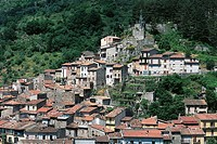 Italy - Lazio Region - Antrodoco - View of the built-up area