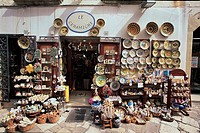 Italy - Apulia Region - Salento - Otranto - Shops on Main Street in Old Town