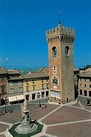 Italy - Marche Region - Recanati - Leopardi Square - Tower