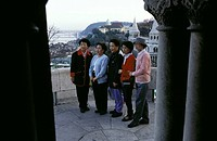 Budapest, Asian tourists, Castle District
