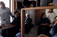 Classroom scene from the Kabul Beauty School