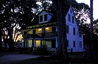 Paramaribo, colonial house The historic inner city is a world heritage site of Unesco