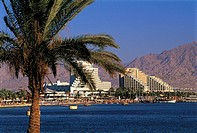 Israel, Eilat, hotels along the Red Sea