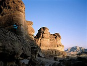 Israel, Eilat vicinity, Negev desert, Timna park, Salomon's pillars