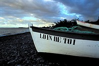Reunion, Saint-Paul, fishing boat