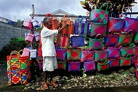 Mauritius, selling baskets