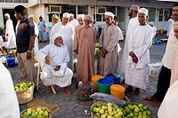 Mutrah Fruits and vegetables market, adjusted to the Fish Market. Muscat, Oman.