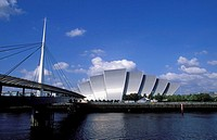 Scotland, Glasgow. The Clyde Auditorium, known as the 'Armadillo' by the Exhibition and conference centre, designed by Sir Norman Foster