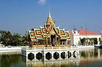 Bang Pa-In, the Summer Palace Pavilion, Bangkok. Thailand