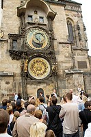 Astronomical Clock and Calendar in the Old Town Square, Prague, Czech Republic