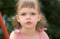 Little Girls Portrait, at Playground, Rope Monkey Bars, Outdoors