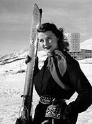 sestriere, sciatrice, 1952
