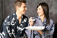 couple, chinese food