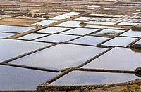 Salt pans, Janubio, Lanzarote, Canary islands, Spain