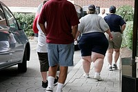 Ohio, Cincinnati, very overweight woman, obese, fat, legs, walking,
