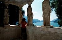 Akropolis, tempel, in, Scherrer, park, Morcote, Lake, Lugano, Ticino, Switzerland