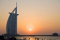 Burj al Arab at sunset  Dubai, United Arab Emirates
