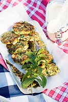 Courgette cakes