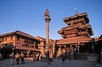 Nepal, Bhaktapur. Dattatraya Temple