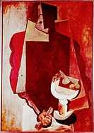 Ü Kunst - Picasso, Pablo 1881 - 1973: Personaje con Frutero Person mit Frucht Gemälde, Öl auf Leinen, Barcelona 1917 KÜNSTLERRECHTE NICHT BEI INTERFOT...