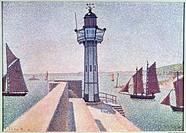 Ü Kunst, Signac, Paul 11 11 1863 - 15 8  1935, Gemälde Der Leuchtturm von Portrieux 1888, Rijksmuseum Kröller-Müller, Otterlo, franz , neoimpressionis...