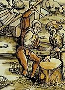 Buchillustration, 18  Jahrhundert, Illustration, Buch, Literatur, Der Alte der Tage, von William Blake 1757 - 1827, zu John Milton Das verlorene Parad...