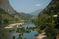Laos, Asia, Nong Khiao, Nam Ou River, Luang Prabang Province, Landscape, Mountains, Islands, Canyon