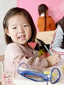 Asian girl with pencil case