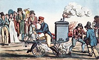 First motorcycle invention, historical artwork  This motorcycle, the Velocipedraisiavaporianna, was steam-powered and used a steam turbine instead of ...