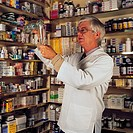 Medical & pharmaceutical, Pharmacist examining product,