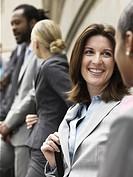 Businesswomen meeting outdoors