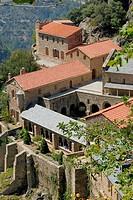 Saint-Martin-du-Canigou monastery. Pyrénées-Orientales, Languedoc-Roussillon, France