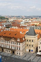View from Old Town Hall on Old Town Square, Prague, Czech republic