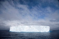 bright white iceberg in the middle of the south atlantic ocean, antarctica
