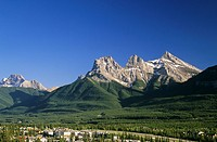 Three Sisters Mountains, Town of Canmore, Alberta, Canada