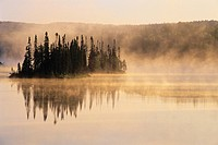 Sunrise on northern lake near Schreiber, Ontario, Canada