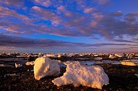 Ice flows on Hudson Bay, Churchill, Manitoba, Canada
