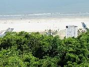 Overview of Itarare beach, São Vicente, São Paulo,