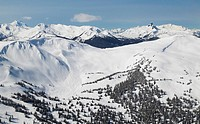 aerial of flute bowl whistler mountain, british columbia, Canada