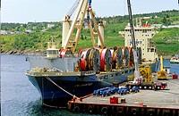 Offshore supply ships, Bay Bulls, Newfoundland, Canada