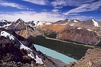 Lorna Lake from Trail Ridge, Big Creek Provincial Park, British Columbia, Canada