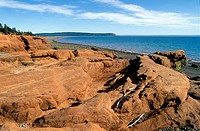 Bay of Fundy Geological formation located near West Advocate, Nova Scotia, Canada