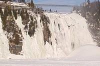 Parc de la Chute, Montmorency Falls Park, Montmorency Falls, 83 meters high, quebec city, 12km east, quebec, canada